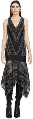 BCBGMAXAZRIA Malory Asymmetrical Lace Dress