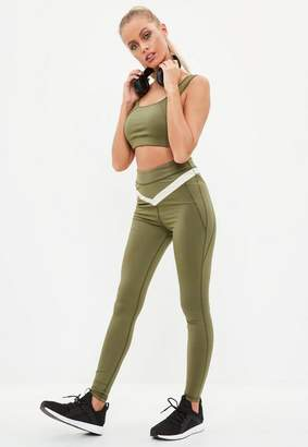 Missguided Active Khaki Gym Leggings