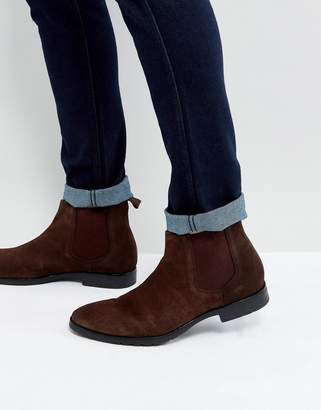 Dead Vintage Chelsea Boots In Brown Leather
