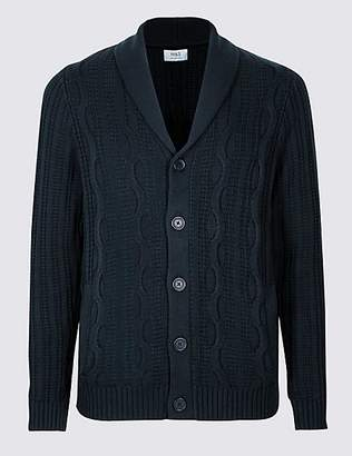 M&S Collection Pure Cotton Cable Knit Cardigan