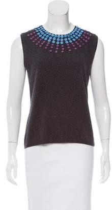 TSE Embellished Cashmere Top