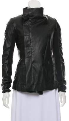 Rick Owens Leather Fitted Jacket