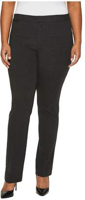 NYDJ Plus Size Plus Size Ponte Trousers in Heathered Charcoal Women's Jeans