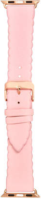 INC International Concepts I.n.c. Women Pink Scalloped Faux Leather Apple Watch Strap