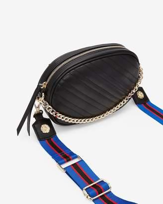 Express Quilted Striped Strap Belt Bag