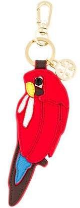 Tory Burch Leather Parrot Keychain