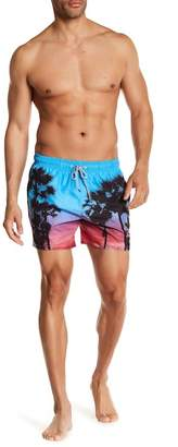 Ted Baker Sonset Palm Tree Print Shorts