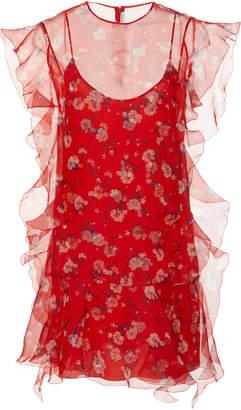 Ermanno Scervino Floral-Print Silk-Organza Mini Dress