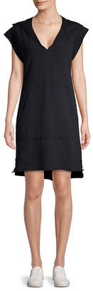 AG Adriano Goldschmied Adriano Goldschmeid Hooded Cotton Shift Dress