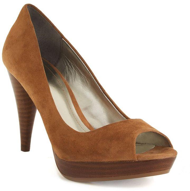 Style&co. Style&co. Shoes, Celine Suede Peep Toe Pumps