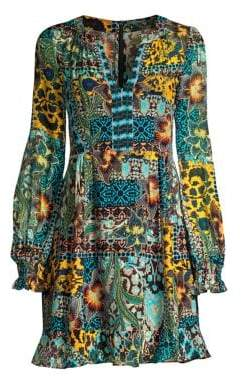 Nanette Lepore Cactus Animal Print Fit-&-Flare Dress