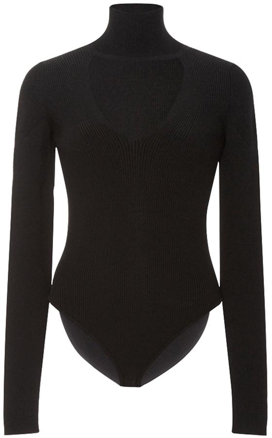 Cushnie Et OchsCushnie et Ochs Black Cutout Collar Bodysuit