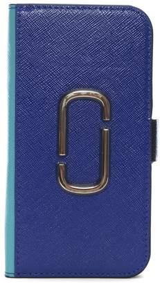 Marc Jacobs Snapshot Academy Blue Multi Cross Grain Leather iPhone 7/8 Case