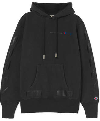 Off-White OffWhite - + Champion Oversized Printed Hooded Top