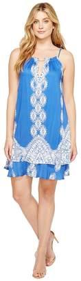 Hale Bob Summer League Rayon Stretch Woven Tie Dress Women's Dress