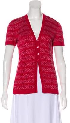 Giorgio Armani Short Sleeve Button-Up Cardigan