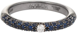 One Kings Lane Vintage Adolfo Courrier Sapphire Diamond Ring - Precious & Rare Pieces
