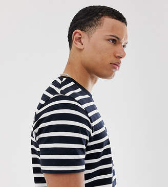 Menswear Big & Tall t-shirt in navy stripe