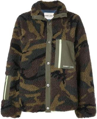Sandy Liang Camouflage shearling jacket