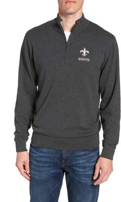 Cutter & Buck New Orleans Saints - Lakemont Regular Fit Quarter Zip Sweater