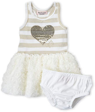 Juicy Couture Infant Girls) Two-Piece Striped Heart Dress & Bloomers Set