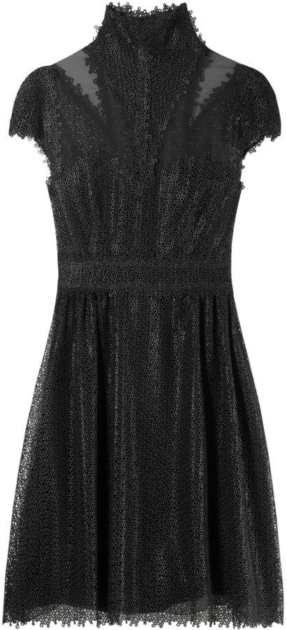 Fendi Silk Eyelet Detail Dress
