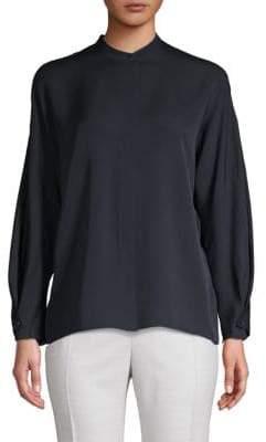 Vince Silk Long-Sleeve Button-Down Shirt