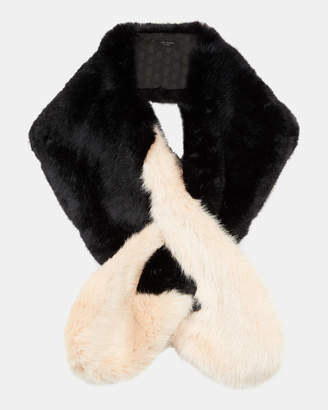 Ted Baker AVRIL Two tone detail faux fur scarf