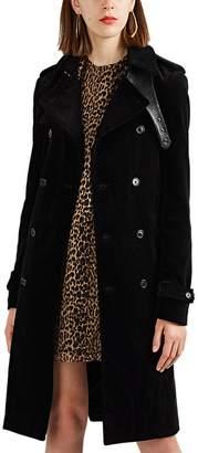 Saint Laurent Women's Corduroy Double-Breasted Trench Coat
