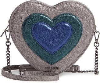 Ted Baker Serera Metallic Heart Leather Shoulder Bag