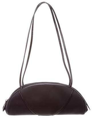 Christian Dior Patent Leather Trimmed Nylon Bag