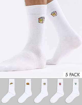 Brave Soul 5 Pack Printed Sock