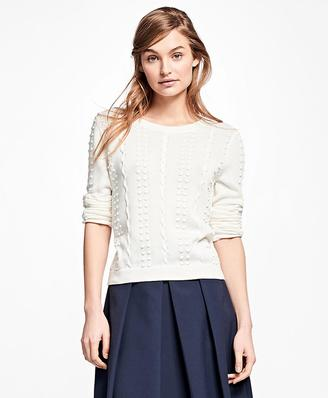 Supima® Cotton Popcorn Sweater $68 thestylecure.com