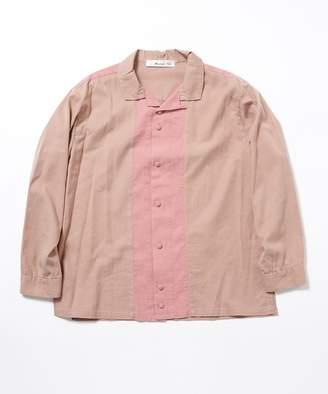 【公式/ナノ・ユニバース】別注レーヨンオープンカラーシャツ【Blonde rush】