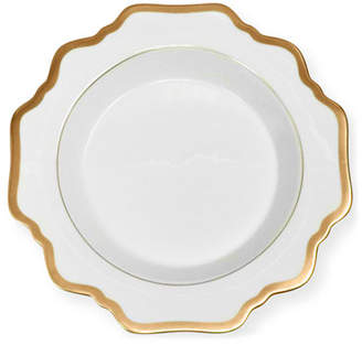 Anna Weatherley Antiqued White Soup Plate