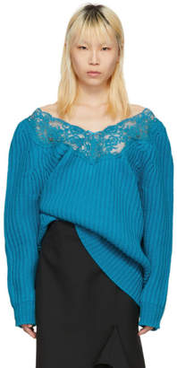 Balenciaga Blue Lingerie Sweater