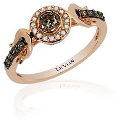 Levian Chocolatier Diamonds and 14K Rose Gold Ring $1,950 thestylecure.com
