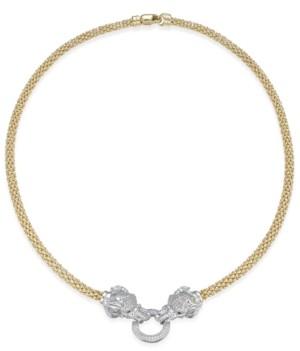 699499c5780b Macy s Diamond (5 8 ct. t.w.) Pave and Emerald Accent Elephant Mesh