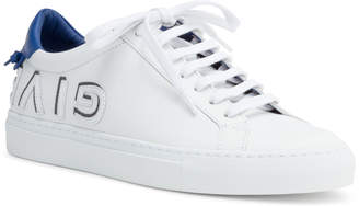 Givenchy Urban Street White And Blue Leather Logo Sneakers