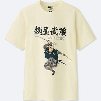 Uniqlo RaMen's Short-sleeve Graphic T-Shirt (menya Musashi)
