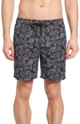 Men's Mr.swim Leafy Floral Print Swim Trunks $75 thestylecure.com