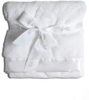 Little Me Newborn 0-9 Months White Stroller Blanket - Smart Value