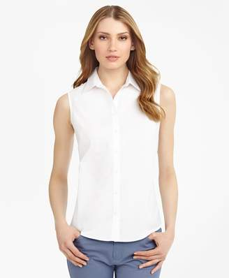 Brooks Brothers Non-Iron Fitted Sleeveless Dress Shirt