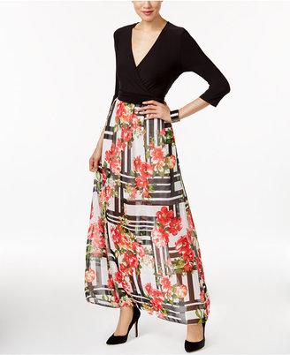 ECI Faux-Wrap Illusion Maxi Dress $70 thestylecure.com