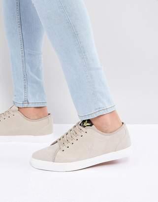 Lyle & Scott Suede Sneakers Ecru