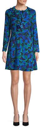 Isaac Mizrahi IMNYC Ruffle Front Shirt Dress