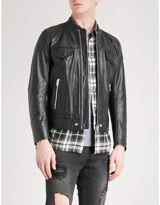 Diesel L-Landing leather bomber jacket