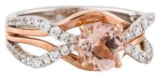 Frederic Sage 14K Morganite & Diamond Cocktail Ring
