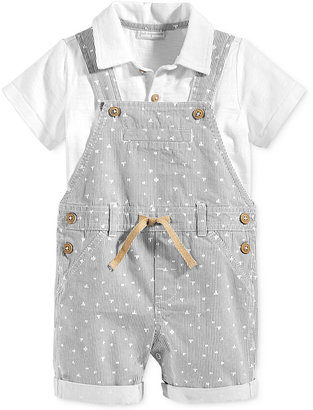 First Impressions 2-Pc. Polo Shirt & Striped Shortall Set, Baby Boys (0-24 months), Only at Macy's $32.50 thestylecure.com