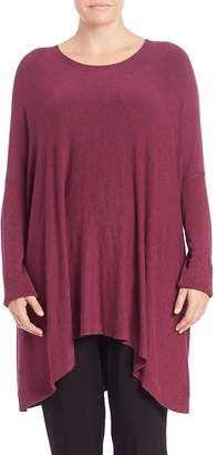 Eileen Fisher Boxy Scoopneck Sweater - Rumberry, Size 2x (18-20)